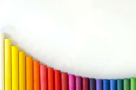 close up set of crayons and mix color,use for design Stock Photo - 18828785