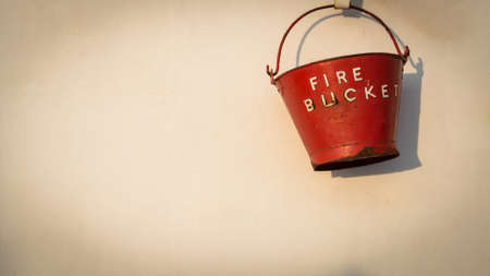 firebucket in supply boat use when fire photo