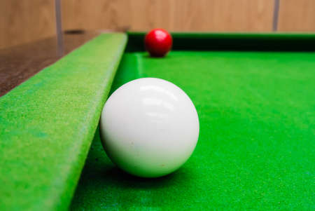 snooker ball on the table photo