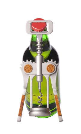 ported: Abrir la botella de cerveza con el abridor de metal