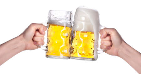 wallop: two hands holding beers making a toast