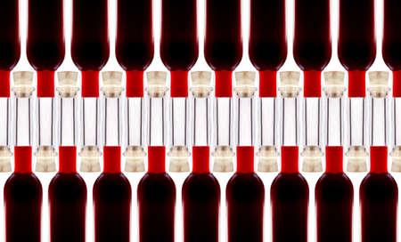 Bottles of wine isolated on white background photo
