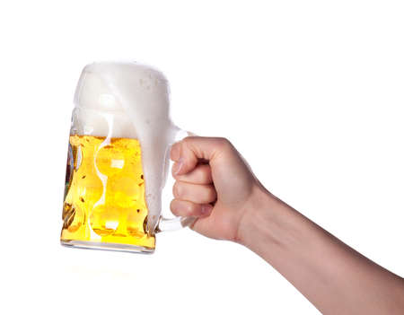 hand holding beer making a toast Stock Photo - 14248229