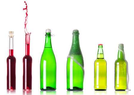 Beverage isolated on a white background photo