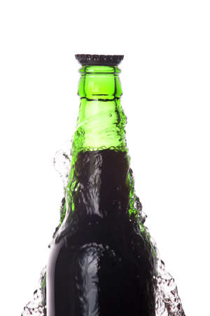 kings beer with a crown isolated on a white background photo