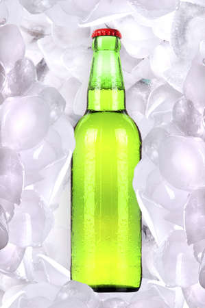 Bottle of cold beer is in ice Stock Photo - 14806403