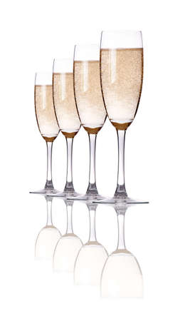 champagne set isolated on a white background photo