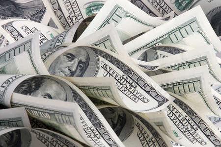 Achtergrond met geld Amerikaanse honderd dollar biljetten Stockfoto