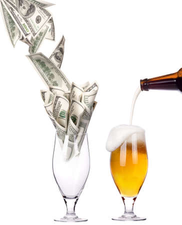 money Cocktail  Business leader concept  isolated on a white background Stock Photo - 16613564