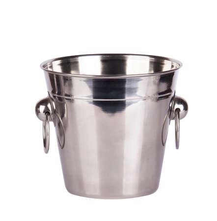 empty ice bucket isolated on a white background Stock Photo - 16810422