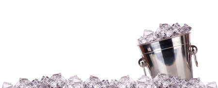 full of ice bucket isolated on a white background Stock Photo - 16877802