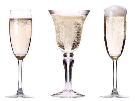 glass of champagne set isolated on a white background Stock Photo - 16877827