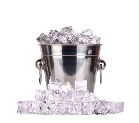 ice bucket isolated on a white background Stock Photo - 17775080