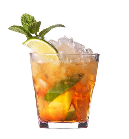 cosmopolitan: alcoholic cocktail isolated on white background Stock Photo