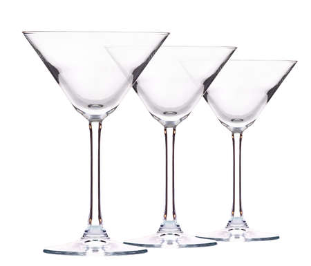 Empty cocktail glass on a white background photo