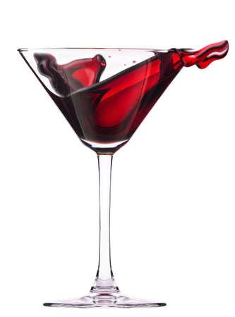 Rode cocktail met splash