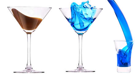 alcoholic  cocktails set - cosmopolitan, Blue Curacao, Chocolate cocktail,martini,margarita, photo