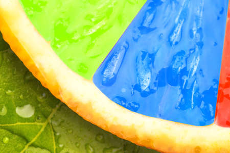 Abstract multicolored fruit macro background photo