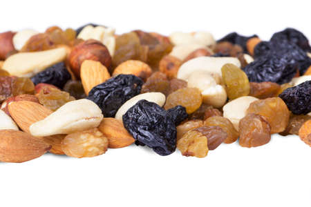 dried fruits and nuts close up background photo