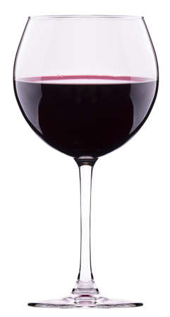 burgundy drink glass: Red wine glass isolated on white background
