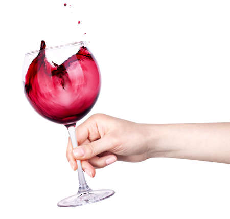 celebrate the holiday background - hand with alcohol cocktail making toast photo