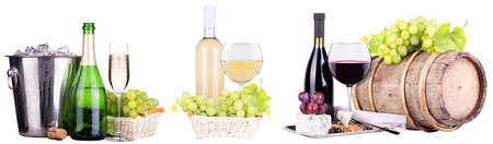 champagne, red and white wine photo