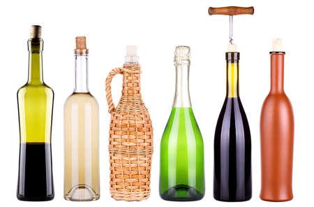 wine, champagne, bottles set  photo