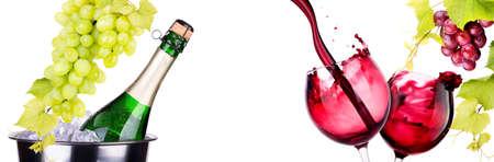 glas met rode wijn splash
