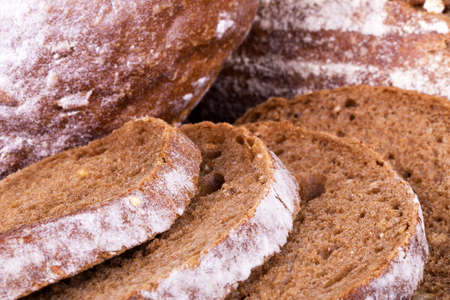 Freshly baked traditional bread a macro background photo