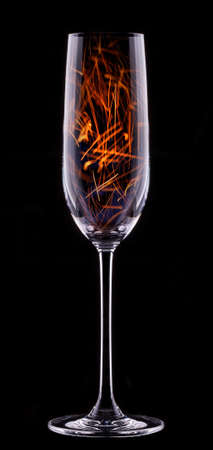 fire in a glass on a black background Stock Photo - 22406371