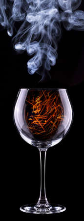 fire in a glass on a black background Stock Photo - 22406372