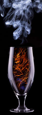fire in a glass on a black background Stock Photo - 22406374