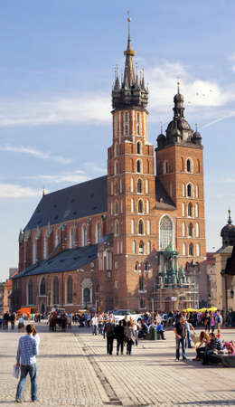 stare miasto: Church of St. Mary  in the city of Krakow in Poland.