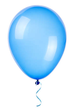 party balloons: flying balloon isolated on a white background