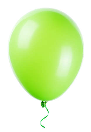 Vliegende ballon geïsoleerd op een witte achtergrond Stockfoto - 23561719