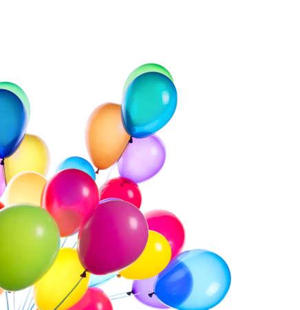 Vliegende ballonnen geïsoleerd op een witte achtergrond Stockfoto - 23561724