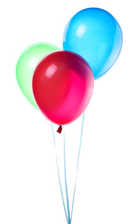 birthday balloon: flying balloons isolated on a white background Stock Photo