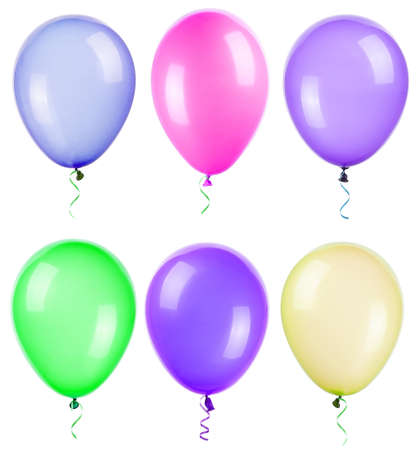 flying balloons isolated on a white background Standard-Bild