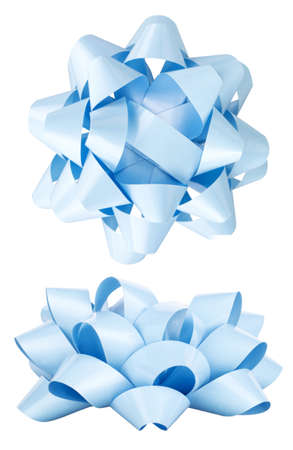 aslant: holiday bow isolated on a white background Stock Photo