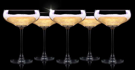 flutes: luxury champagne glass on a black background