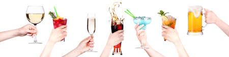 alcohol drinks set making toast photo