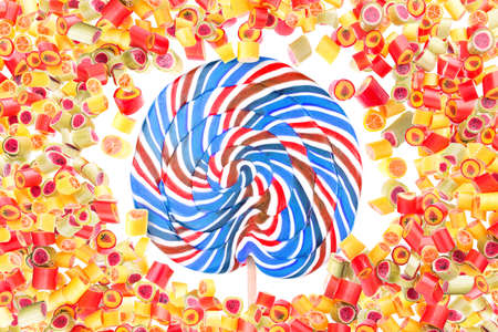 pattern with lot of a fruit candies for background photo