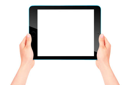 wireless tool: Touch screen tablet computer with hand