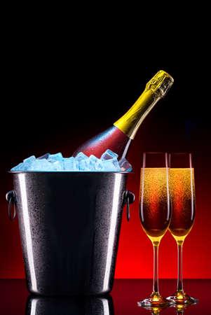 luxury champagne set a very festive background photo