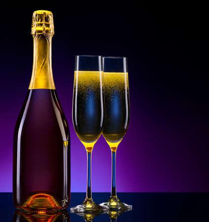 luxury champagne background photo