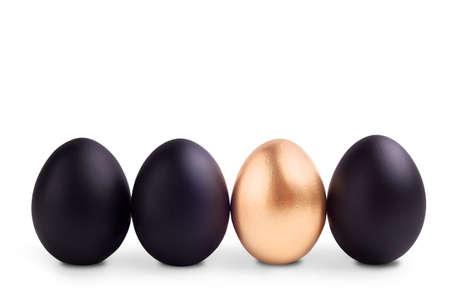 gold egg: Success Symbol Concept with gold egg