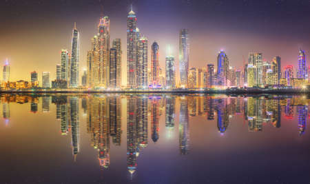 business asia: The beauty panorama of Dubai marina. UAE
