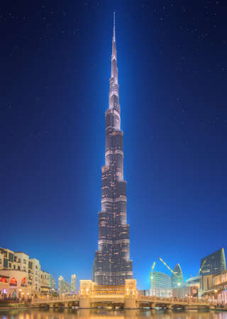 dubai mall: Burj Khalifa in Dubai, UAE Editorial