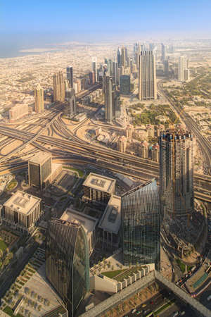 zayed: View at Sheikh Zayed Road skyscrapers