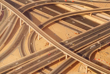 road intersection: Highway road intersection in Downtown Burj Dubai.